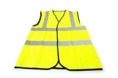 Geel vest dat op het wit wordt geïsoleerdt royalty-vrije stock foto's