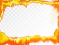 Geel waterverf artistiek kader VectordieIllustratie, op transparante achtergrond wordt geïsoleerd stock illustratie