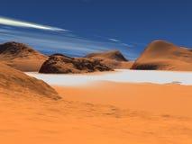 Geel zand stock illustratie