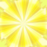 Geel zonlicht vector illustratie