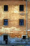 Geelachtig bruine muur Stock Afbeelding