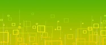 Geelgroene abstracte achtergrond van vierkanten stock illustratie