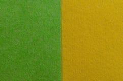 Geelgroene abstracte achtergrond Vlak leg geometrische minimalism De kaart van de patronengroet stock afbeeldingen
