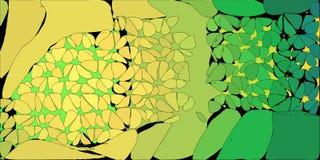 Geelgroene Gestileerde Bloemenachtergrond stock illustratie