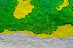 Geelgroene Waterverfachtergrond Royalty-vrije Stock Foto's