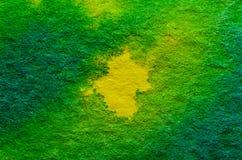 Geelgroene Waterverfachtergrond Stock Fotografie