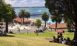 GEELONG, AUSTRALIA - DECEMBER 25, 2014: Australians are resting Royalty Free Stock Images