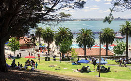GEELONG, AUSTRALIA - DECEMBER 25, 2014: Australians are resting Royalty Free Stock Photography