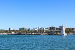 View of the Geelong waterfront from Cunningham Pier royalty free stock photos