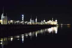 Geelong Cunningham pier reflecting brightly Stock Image