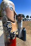 Geelong ist eine Hafenstadt, die auf Corio-Bucht und dem Barwon-Fluss, im Zustand von Victoria, Australien, 75 Kilometer Südweste lizenzfreies stockfoto