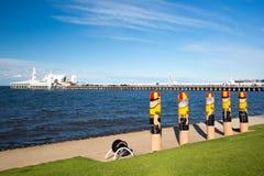 Geelong-Ufergegend im Sommer lizenzfreie stockbilder