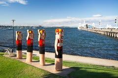 Geelong-Ufergegend im Sommer lizenzfreie stockfotografie