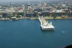 Geelong, Victoria, Australia. Viewed from the air Royalty Free Stock Images