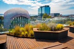 Geelong, Victoria, Australien - Ansicht am Geelong-Galeriegebäude von der Dachspitzenplattform lizenzfreies stockbild