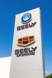 Geely automobile dealership sign Stock Photo