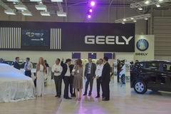 Geely automotive company booth Royalty Free Stock Photos