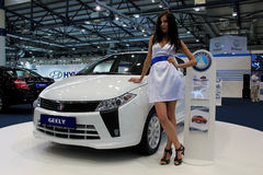 Geely Englon SC 515-RV. KIEV - MAY 26: Geely Englon SC 515-RV at yearly automotive-show SIA 2011. May 26, 2011 in Kiev, Ukraine Royalty Free Stock Photos