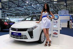 Geely Englon SC 515-RV. KIEV - SEPTEMBER 10: Geely Englon SC 515-RV at yearly automotive-show Capital auto show 2011. September 10, 2011 in Kiev, Ukraine Stock Image