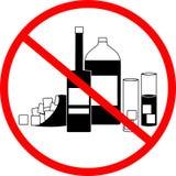 Geen alcohol stock illustratie