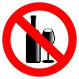 Geen alcohol vectorteken Royalty-vrije Stock Afbeelding