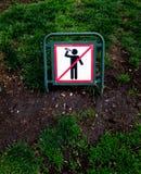 Geen alcoholische dranken toegestaan teken stock foto's