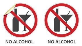 Geen Alcoholteken Stock Afbeeldingen