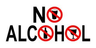 Geen alcoholteken Stock Foto's