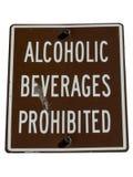 Geen alcoholteken dat door weg wordt geïsoleerdn te knippen Stock Afbeelding