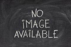 Geen beeld beschikbare tekst op bord Stock Foto's