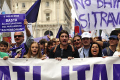 Geen Berlusconi Dag 2 Stock Foto