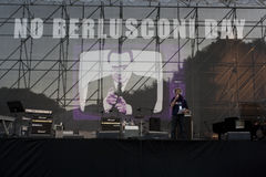 Geen Berlusconi dag, Rome 5/12/09 Stock Foto