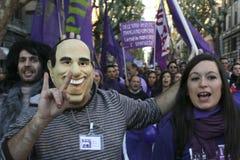 Geen Berlusconi dag, Rome 5/12/09 Royalty-vrije Stock Foto's