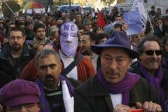 Geen Berlusconi dag, Rome 5/12/09 Royalty-vrije Stock Afbeelding