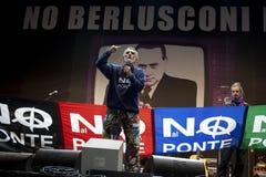Geen Berlusconi dag, Rome 5/12/09 Stock Afbeeldingen