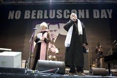 Geen Berlusconi dag, Rome 5/12/09 Royalty-vrije Stock Foto