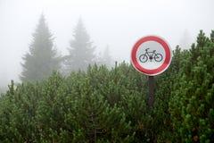 Geen Bicicle-Teken Royalty-vrije Stock Fotografie