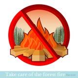 Geen brand in bos of park Royalty-vrije Stock Afbeeldingen