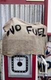 Geen brandstof. stock foto