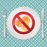 Geen brood - illustratie van het gluten de vrije pictogram Stock Afbeelding