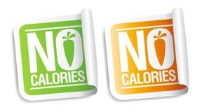 Geen calorieënstickers. Stock Foto's