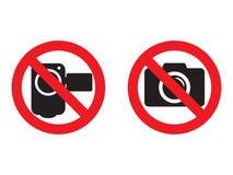 Geen camera en video rode verbodstekens Het nemen van beelden en toegestaan niet registreren Geen fotograferend teken Geen videoc vector illustratie