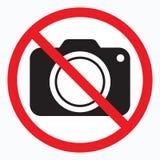 Geen camera's toegestaan teken Rood verbod geen camerateken Geen nemende beelden, geen foto's ondertekenen vector illustratie