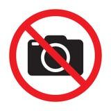 Geen camera's toegestaan teken Rood verbod geen camerateken Geen nemende beelden, geen foto's ondertekenen royalty-vrije illustratie