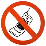 Geen cellphne/mobiel Stock Foto's