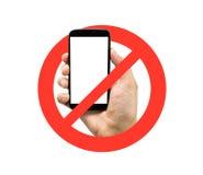 Geen cellphones stock foto's