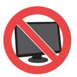 Geen computer Royalty-vrije Stock Afbeeldingen