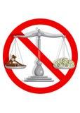 Geen corrupt hof Royalty-vrije Stock Fotografie