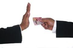 Geen corruptie of prijsconcept Stock Foto's