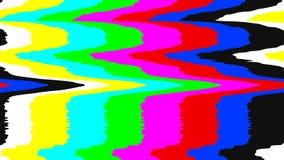 Geen de testpatroon van signaaltv Digitale glitch vervorming Vector illustratie Stock Foto